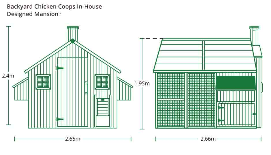 Mansion Chicken Coop measurements