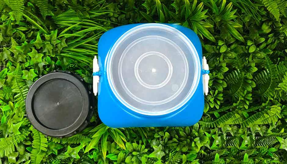 top view of storage drum lid